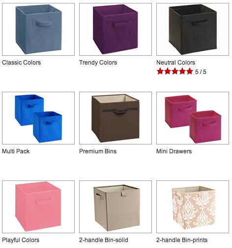 Closetmaid 5784 Cubeicals Fabric Drawer Love My Bins