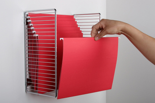 Wall Hanging File Folders paper doll adjusts the vertical hold: space-saving file solutions